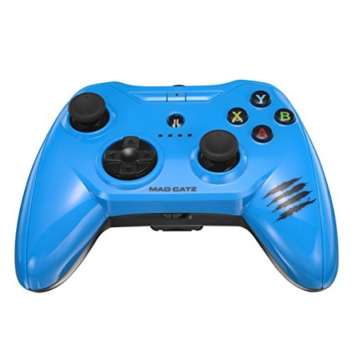 Price comparison product image Apple Certified Mad Catz C.T.R.L.i Mobile Gamepad and Game Controller Mfi Made for Apple TV, iPhone, and iPad - Blue
