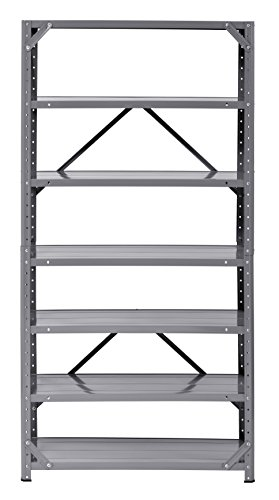 Edsal Muscle Rack HC30127-17 Steel 7-Shelf Shelving Unit, 75