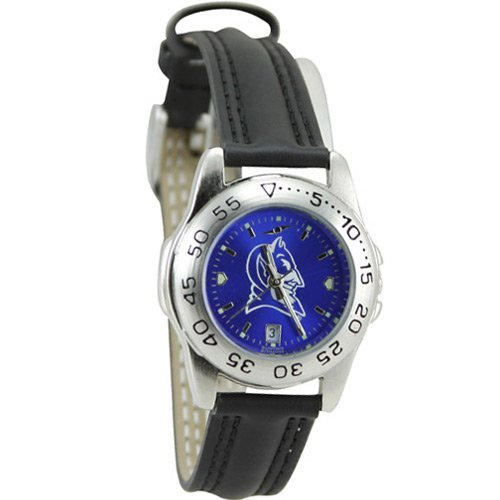 NCAA Duke Blue Devils Ladies Game Day Sport Leather AnoChrome Watch (Womens Duke Blue Watch Devils)