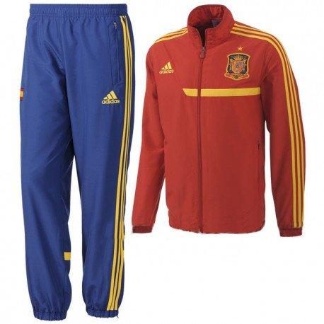 590e22bd9 adidas Tuta di Calcio Squadra di Spagna 2013 Rosso 14 Anni: Amazon ...