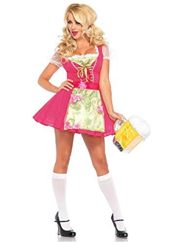 [Leg Avenue Women's Beer Garden Gretel Costume, Pink, Small] (Gretel Sexy Adult Costumes)