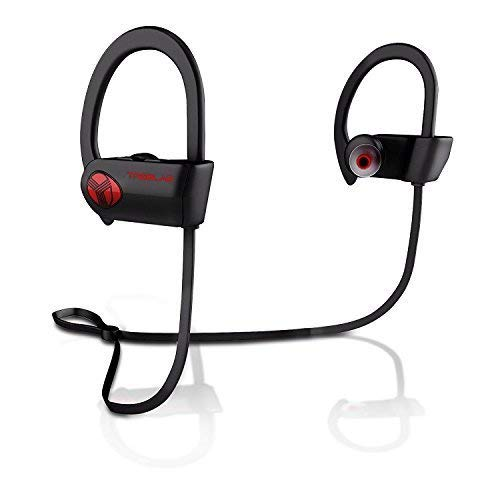 TREBLAB XR500 Bluetooth Headphones, Best Wireless Earbuds for Sports, Running or Gym Workout. 2018 Updated Version. IPX7 Waterproof, Sweatproof, Secure-Fit Headset. Noise Cancelling Earphones w/Mic by Treblab (Image #8)