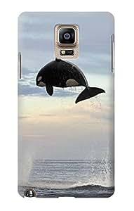 E1349 Killer whale Orca Funda Carcasa Case para Samsung Galaxy Note 4