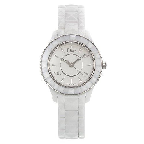 Christian Dior White Eight Ladies White Ceramic Quartz Watch CD1231E2C001