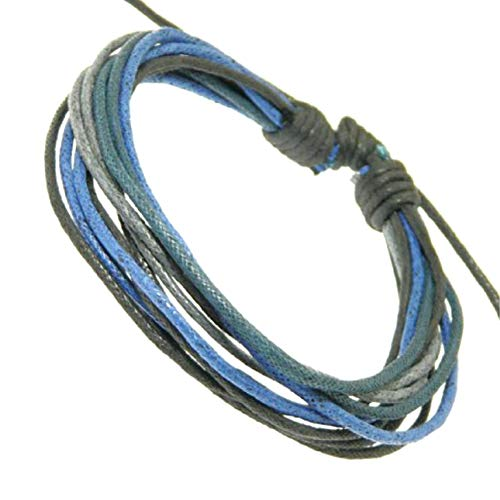 Neptune Giftware Mens Surf Surfer Style Multi-Coloured Cord Bracelet Wristband - 92