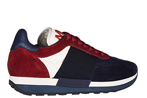 Moncler Herenschoenen Mannen Suède Sneakers Schoenen Horace Blu