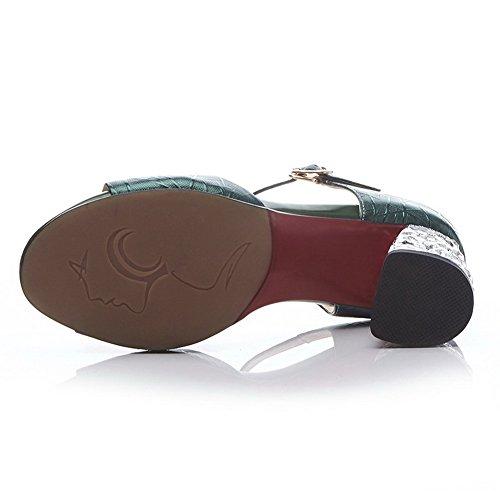 BalaMasa Womens Travel Mini-Size Solid Urethane Sandals ASL05173 Darkgreen l908PNKIVv