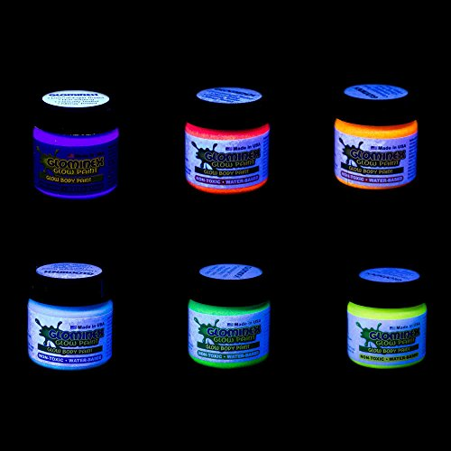glominex ah921 glow in the dark body and face paint 1oz jars. Black Bedroom Furniture Sets. Home Design Ideas