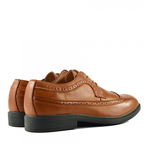 Kick Footwear Herren Casual Anzug Wildleder Formal Office Smart Work Lace up Oxford Schuhe Tan