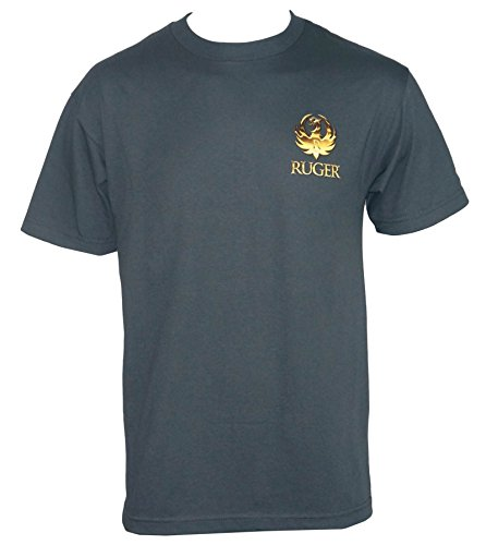 Ruger Firearms Mens Smoked T Shirt Charcoal L