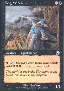 Bog Witch - Magic: the Gathering - Bog Witch - Mercadian Masques