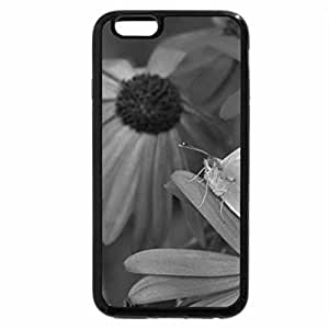 iPhone 6S Plus Case, iPhone 6 Plus Case (Black & White) - Butterfly on Purple Flower