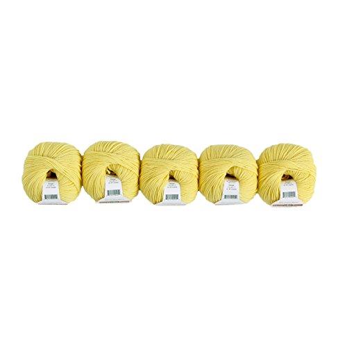 (Valley Yarns Valley Superwash DK 5-Pack (Washable, DK Weight Yarn, 100% Extra Fine Merino Wool) - #10 Soft Yellow)