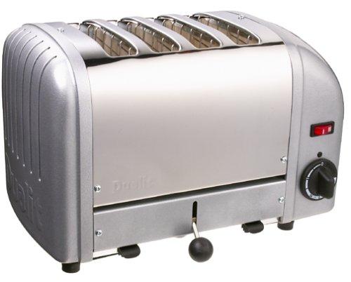 Dualit 4-Slice Toaster, Metallic Silver