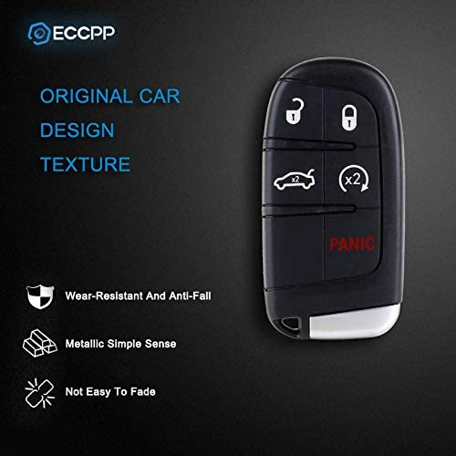 Pack of 2 ECCPP Replacement fit for Uncut Keyless Entry Remote Key Fob Chrysler 300// Dodge Charger//Jeep Grand Cherokee M3N32337100