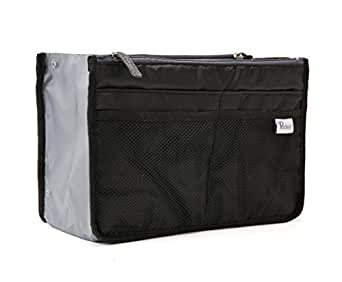 Periea Handbag Organizer, 12 Compartments - Chelsy (Black, Small)