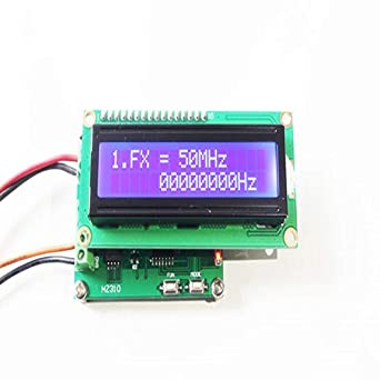 Taidacent 1pcs Digital Voltage Current Radio rf ac Frequency Counter