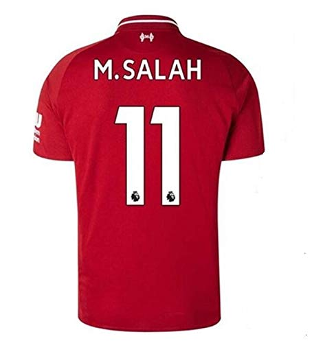 Liverpool Home Jersey #11 M Salah 2018-2019 Mens Soccer Jersey Red(S-XXL) (M)