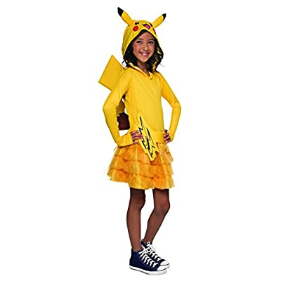 Rubie's Pokémon Pikachu Child Hooded Costume Dress, Large: Toys & Games