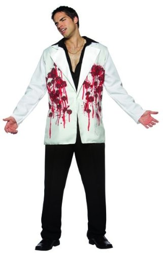 Rasta Imposta Bullets Blazer Adult Costume,White,One Size - Bloody Blazer Costumes