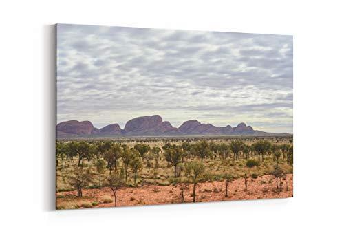 Ayers Rock National Park Remote and Uluru in Uluru Australia - Canvas Wall Art Gallery Wrapped 26