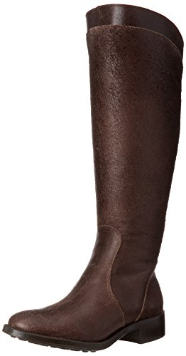 Distressed Leather Riding Boots - 1