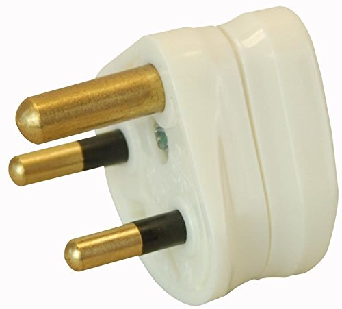 Pro Elec 2A, 3-Pin, Round Mains Plug, White