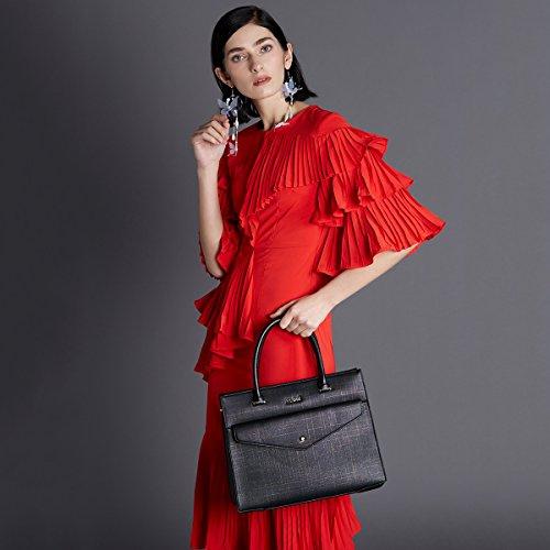 Vintage clair à sac à pour bandoulière sac main Black Kadell main poignée Femmes à Enveloppe dames sac Gris Top Bnq4wTRx5