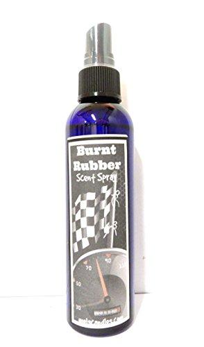 Burnt Rubber 4oz Blue Bottle of Scent Spray, Unique Scent