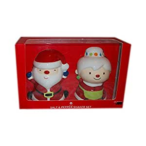 Santa & Mrs Claus Salt & Pepper Shakers Christmas