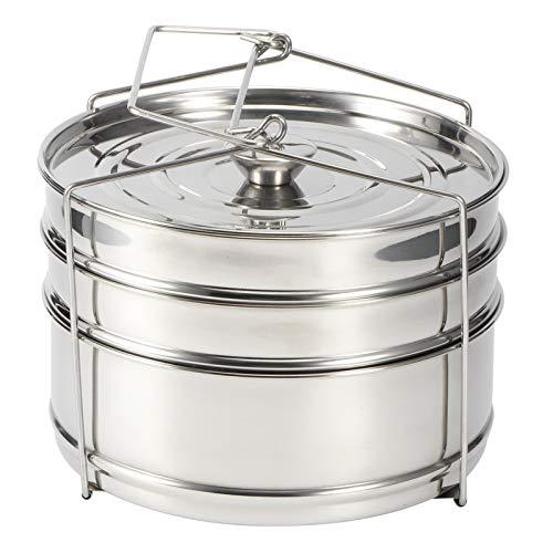 3-Laags Stapelbare Stoominzetpannen met Strop – Pot in Pot Koken, Bakken, Lasagne Pannen, Accessoires voor…
