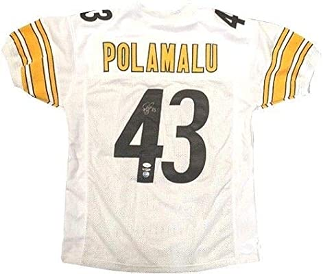 6fa625e3148 Troy Polamalu Autographed Signed Pittsburgh Steelers Jersey Autograph Uda  Authentic Upper Deck - JSA Authentic