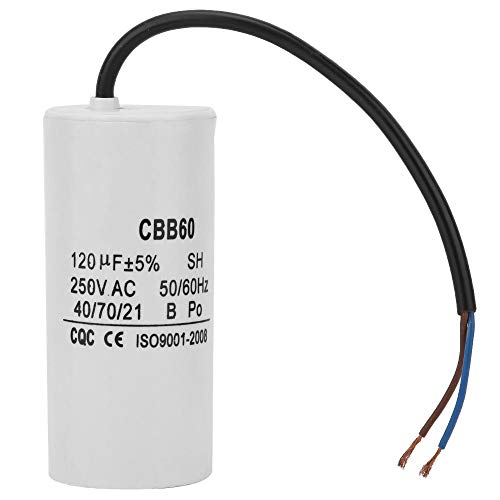 Professional Run Capacitor with Wire Lead for Motor Air Compressor CBB60 250V AC 120uF 50/60Hz Heat Resisting and Low ()