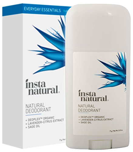Natural Deodorant for Underarms - Aluminum Free Stick for Smell Protection - Lavender Citrus Scent for Men & Women - Non Toxic Anti Odor Formula with Organic Ingredients - by InstaNatural - 2.5 oz