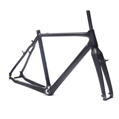 Full Carbon Matt Matte Cyclocross Frame Bicycle BSA Frame Fork 55cm x-goods