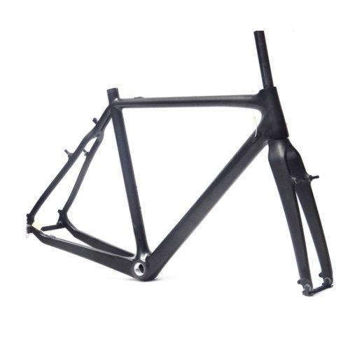 Full Carbon Matt Matte Cyclocross Frame Bicycle BSA Frame Fork 57cm