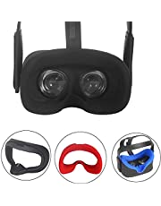 Esimen VR Face Silicone Cover Mask & Face Pad for Oculus Quest Face Cushion Cover Sweatproof Lightproof Comfort Set (Mask Black)