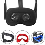 Esimen VR Face Silicone Mask Pad & Face Cover for Oculus Quest Face Cushion Cover Sweatproof Lightproof (Mask Black)