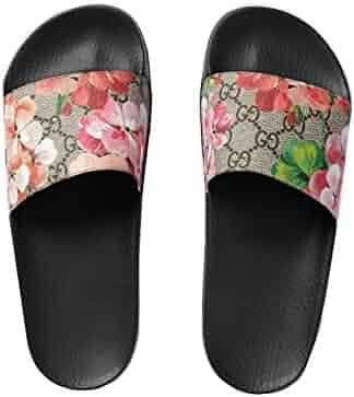 d79a9b6e371ad4 new-Gucci Women s Shoes Geranium Print Flat Slippers