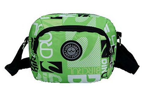 Viaggio a Satchel Nylon Borse VogueZone009 tracolla Style Borse Verde a CCALBP181046 tracolla Donna XHxUTFO