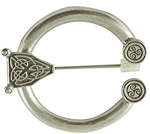 "Medium Celtic Pewter Brooch 2"" diameter."