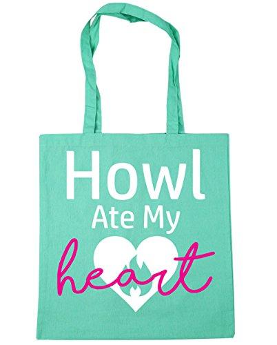 HippoWarehouse Heulen Ate My Heart Einkaufstasche Fitnessstudio Strandtasche 42cm x38cm, 10 liter - Mintgrün, One size