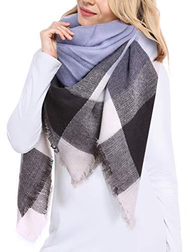 大尺寸格子披肩/围巾,冬日给你温暖和时尚!34种花色!