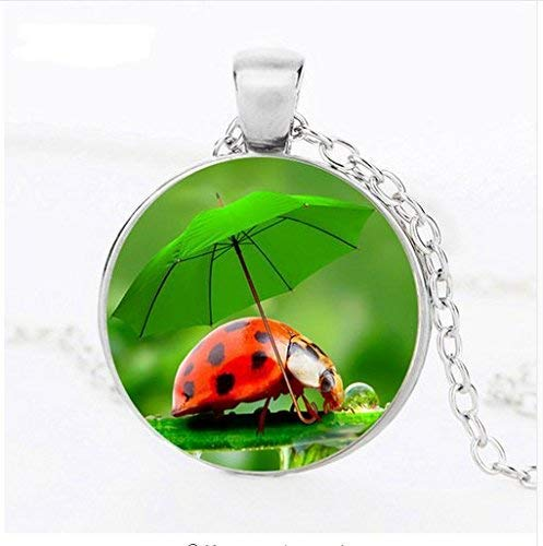 Fashion Beetle Animal Necklaces, Insect Logo Glass Pendants,Women Friendship Necklaces