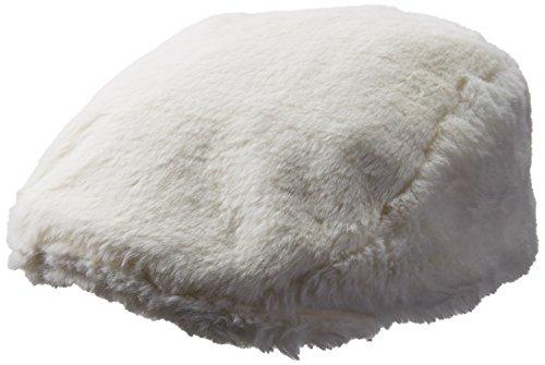 Kangol Men's Faux Fur Cap, Cream, M (Fur Newsboy)
