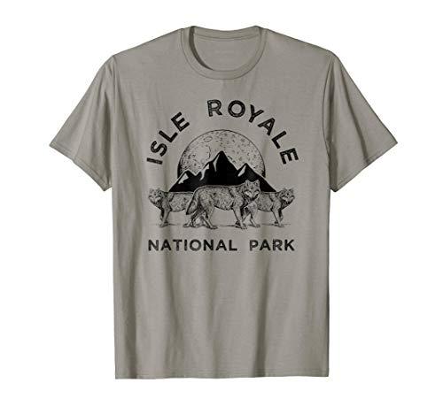 (Isle Royale Park Wolf T-Shirt, Northwest Wolves Tee Apparel)