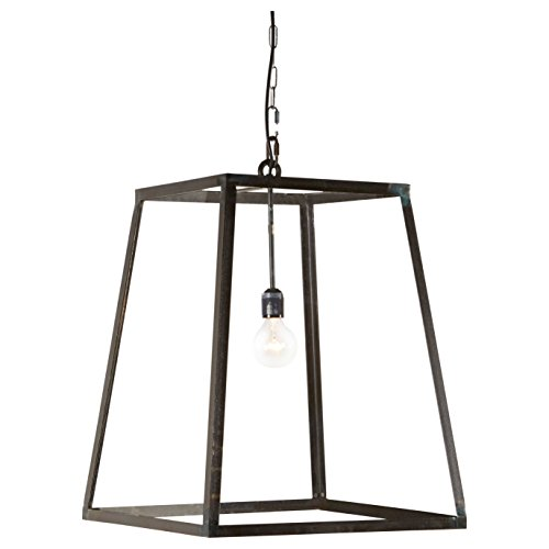 Ludwig Industrial Loft Iron Glass 1 Light Lantern Pendant - Bobo One Light Pendant