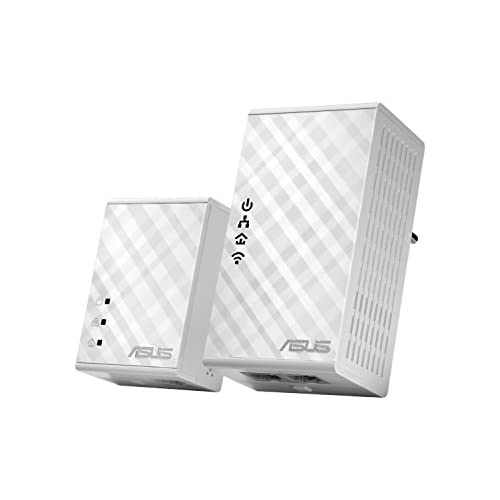 chollos oferta descuentos barato ASUS PL N12 Kit Extensor de Red por línea eléctrica WiFi N300 Mbps AV500 sin configuración botón para cl