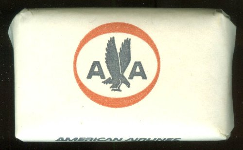 (American Airlines on-board airline cake of soap 1962-1967 logo Cashmere Bouquet)