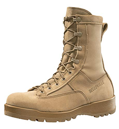 Belleville New Made in US 790 G GI Desert Tan Military Army Combat Waterproof Goretex Temperate Flight Boots (11 Regular)